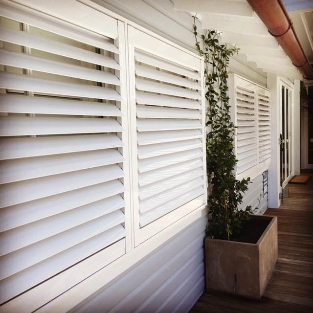 External white shutters